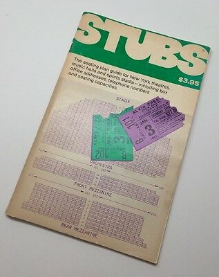 Stubs - The Seating Plan Guide for NY - 1980