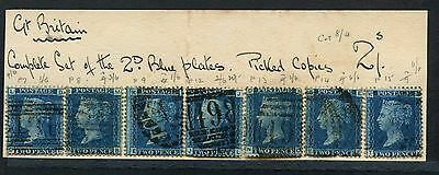 GREAT BRITAIN  1858-79 - 2d. Blue, perf. -  SG45+47 Pt. 7, 8, 9, 12, 13, 14, 15