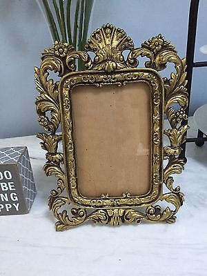 Antique Vintage Brass Ormolu Rococo Table Frame Ornate French Style