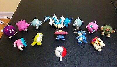 Pokemon Burger King Lot - Spinners, Launchers, Keychains and Gyarados Bean Bag