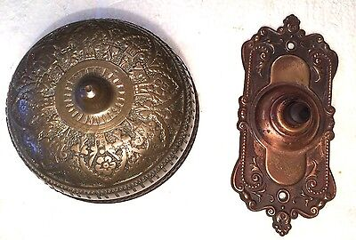 Ornate Victorian Push Button Doorbell