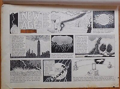 """Original Art for """"Our New Age"""" by Athelstan Spilhaus & Earl Cros from 7/5/1959"""
