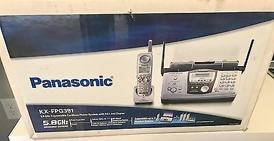 PANASONIC KX-FPG391 Fax Copier w/ 5.8 GHz Phone System Electronics Features, New