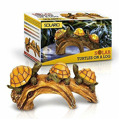 Turtle Shell Solar Powered Light Battery Power Yard Garden Lawn Path Art Statue