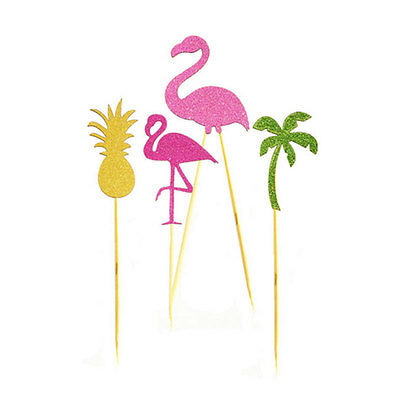 Flamingo Cupcake Cake Multicolor Flags Toppers Decoration Wedding Party Decor