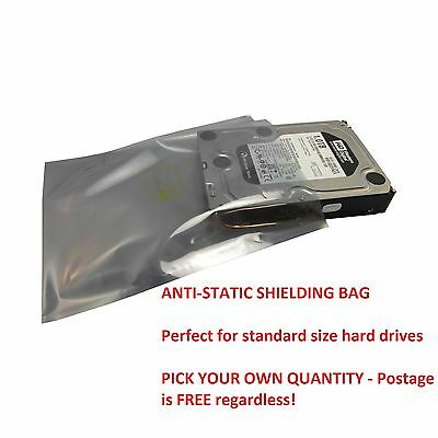 ANTI STATIC SHIELDING BAG FOR HDD HARD DRIVE 6 x 8 in /15 x 20 cm FREE 1st Class