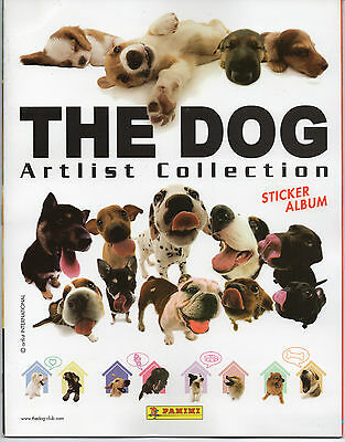 Panini 2006 The Dog Artlist Collection Complete Loose Sticker Set + Empty Album