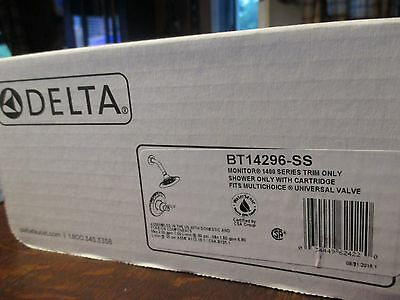 Delta Faucet BT14296-SS Windemere Shower Trim Kit Only Stainless Steel
