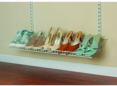 36 in. 5-Pair Ventilated Wire Shoe Shelf Rack Kit Shoes Closet Storage System