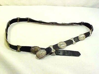 Fabulous Ladies Navajo Silver 20 Bows & Conchos Belt Native American