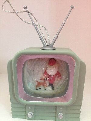 New Rudolph and The Island Of Misfit Toys Santa on TV Christmas ornament
