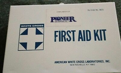 vintage 1970s industrial first aid kit American white cross