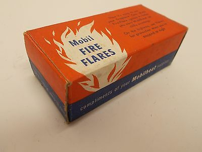 NOS Vintage MOBIL Oil Co. FIRE FLARES~ For Starting Fires and as Road Flares