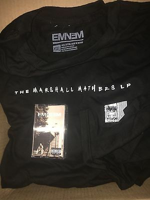 BRAND NEW The Marshall Mathers LP Cassette 2016 Re-Issue + T-Shirt XXL Eminem