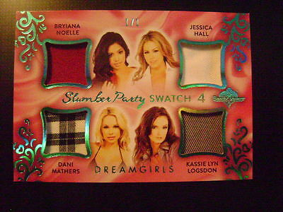 2017 Benchwarmer Dreamgirls Slumber Party 4 SWATCH GOLD Ser# 1/1 PLAYMATES