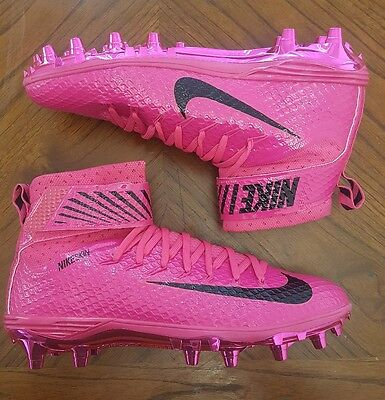 Nike LunarBeast Elite TD Football Cleats Mens Sz 11 Pink 884805-606