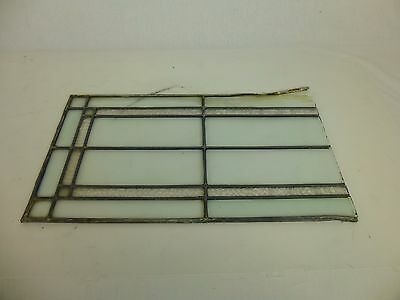 Antique Vintage Leaded Stained Glass Window Bevels Clear