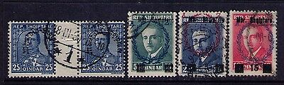 Albania  Stamps ,SC# 215 Pair; 238-40 Used
