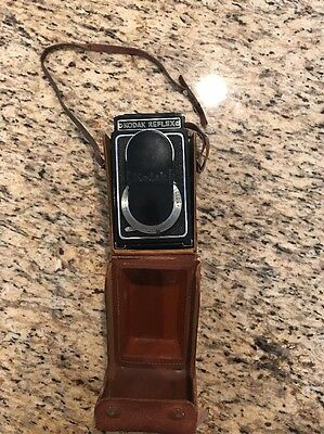 Kodak Reflex TLR Camera With Original Leather Case and Lens Cap