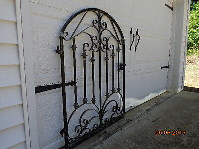 French Chateau Iron Scroll Garden Gate