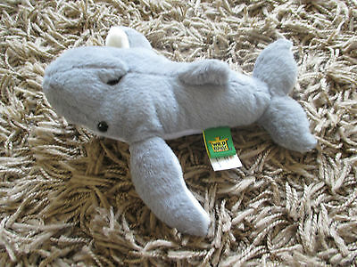 BNWOT Wild Republic Small Grey Whale Soft Toy (Ocean Mammal)