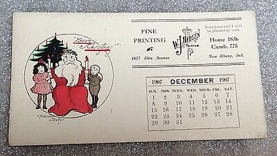Antique INK BLOTTER Advertising 1907 W J Hedden Printing New Albany IN