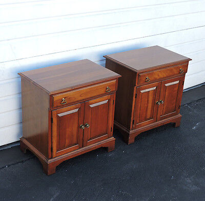 Pair of Solid Cherry Nightstands End Side Tables by Pennsylvania House 8447