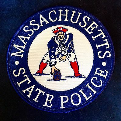 """Massachusetts State Police New England Patriots """"pat The Patriot"""" Patch Mass Ma"""