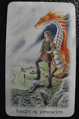 Knight of Pentacles Celtic Dragon Tarot Single Replacement Card Excellent