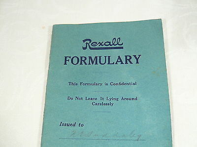 Antique 1914  REXALL Drugs Store FORMULARY  UNITED DRUG Co. Remedies Apothicary