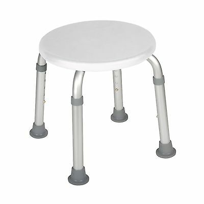 Adjustable Height Bath Stool Portable Comfortable Shower Tub Safety Seat White