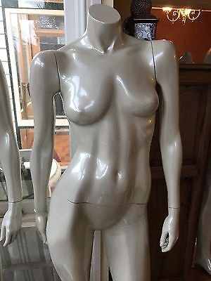 Female Mannequin (Cream) With Steel Or Glass Stand. (Melbourne Only)