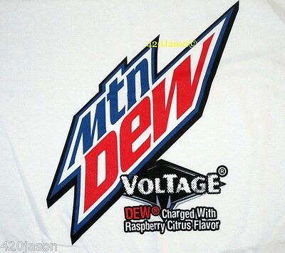 Mountain Dew High Voltage Limited Edition White XL T-shirt - NEW