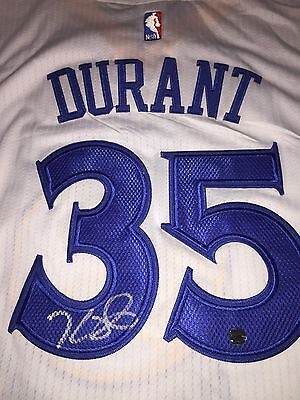 Kevin Durant Autographed AUTHENTIC Warriors Home Jersey! COA & Holograms