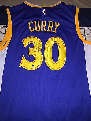 Stephen Curry Autographed AUTHENTIC Warriors Jersey! COA & Holograms