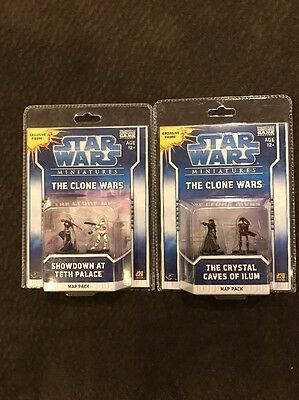 Star Wars Miniatures The Clone Wars The Crystal Caves Of Ilum & Showdown At Teth