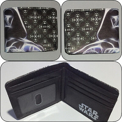 Star Wars Darth Vader Bi-Fold Wallet Mens Boys Photo ID Slot Bifold Black
