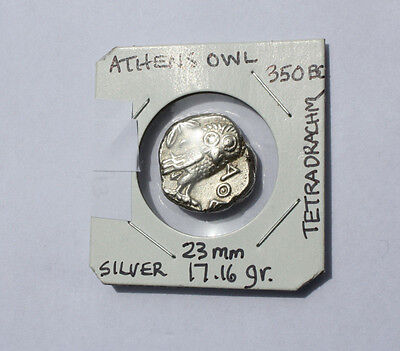 Athens Owl Tetradrachm::350 Bc. :::vf With Great Detail::pure Silver::heavy