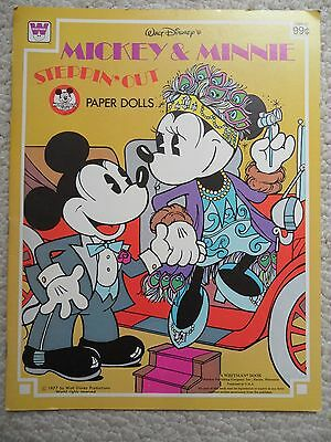 MICKEY & MINNIE MOUSE STEPPIN' OUT PAPER DOLLS~1977 Walt Disney~WHITMAN~