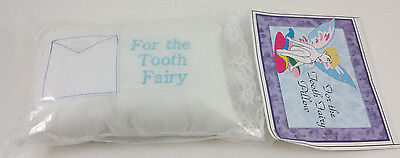 Baby Pillow Tooth Fairy Embroidered Girl Pink Boy Blue Ruffled Lace 5 x 7 NEW!