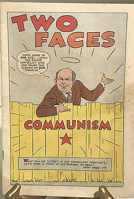 Two Faces of Communism Christian Anti-Communism Crusade Propaganda Comic 1961