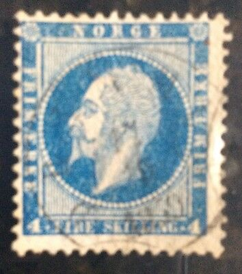 Norway Stamps, Scott #4-4, Used