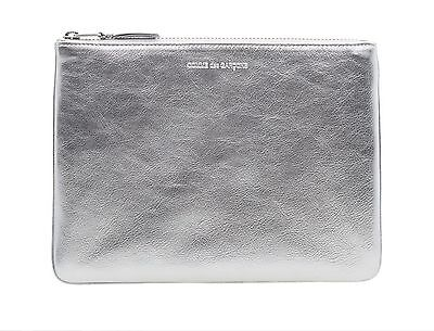 Nwt Comme Des Garcons Sa5100G Silver Wallet Leather Case Made In Spain