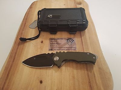 Medford Praetorian Genesis G/T Flamed Ti Folding Knife