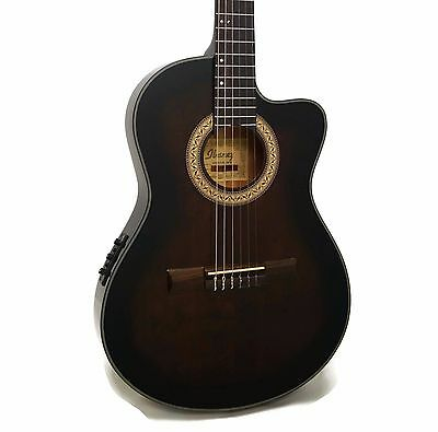 Ibanez GA35TCE Thinline Cutaway Classical Nylon Acoustic-Electric Guitar
