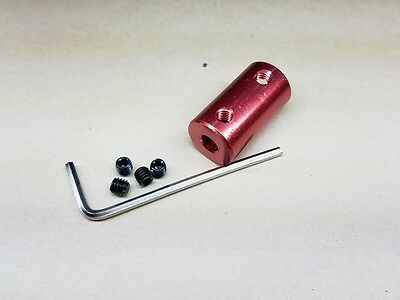 5mm x 8mm Red Small Rigid Shaft Coupler Stepper Motor CNC Coupling 3D Reprap