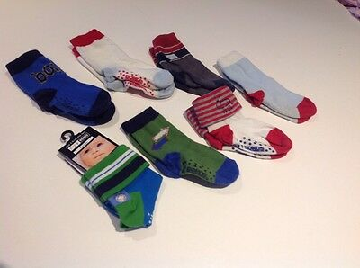 Baby boys socks - x 7 pairs approx size 2-5 (18mnths-3years)