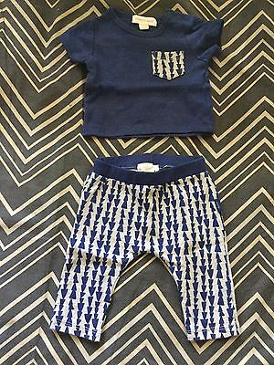 Baby Boy Kids Childrens Pumpkin Patch Shirts and Pants Outfit, Size NewBorn 0000