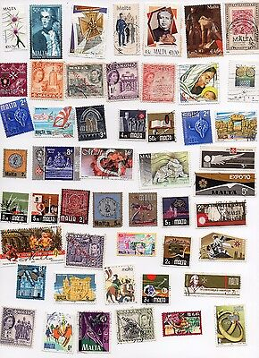 MALTA Stamps 120 All Different and Off Paper