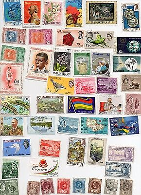 MAURITIUS Stamps 75 All Different and Off Paper